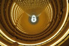 Shanghai - Lobby des Grand Hayatt Hotels im Jinmao Tower[