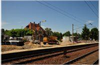 Bauarbeiten am Bahnof Bietingen