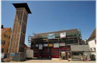 Das Gottmadinger Feuerwehrhaus während der Umbauphase