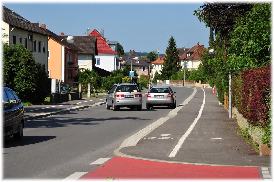 Ausgebaute L190 / Hilzinger Straße