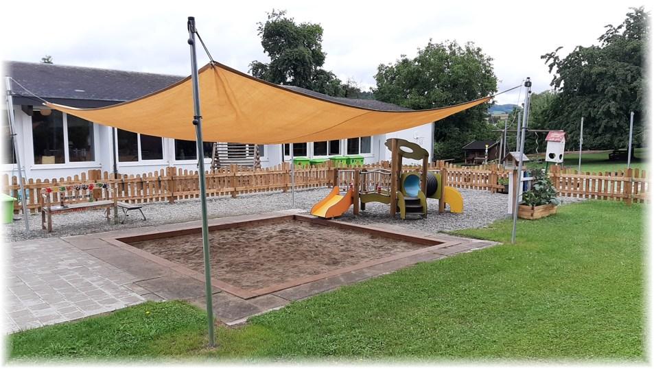 Außenspielbereich für die Kleinkindgruppe in Bietingen