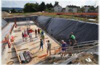 Rohbauführung rund um den Keller der neu entstehenden Realschule