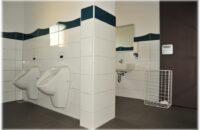 Frisch sanierte Sanitäranlagen in der Schule Bietingen