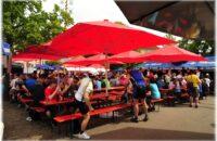 Der slowUp Festplatz im Herzen von Gottmadingen