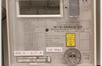 Der neue Stromzähler für die Solaranlage im Freibad