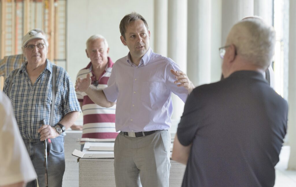Immer im Gespräch: Bürgermeister Dr. Michael Klinger
