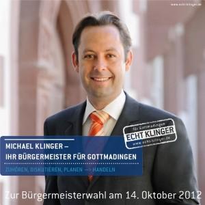 Titelbild Wahlprospekt: MICHAEL KLINGER - IHR BÜRGERMEISTER FÜR GOTTMADINGEN